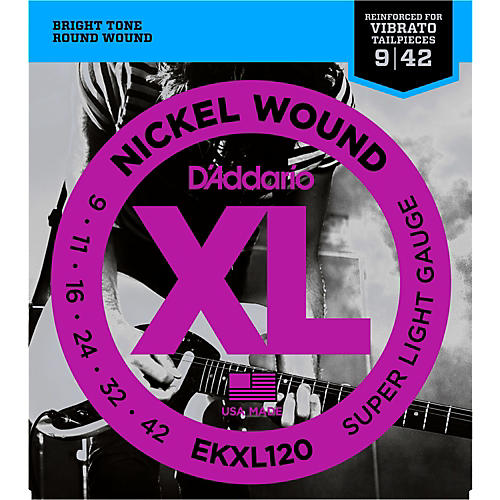 D'Addario EKXL120 Tremolo 009 Super Light Electric Guitar Strings-thumbnail