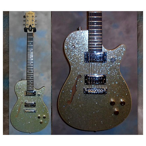 Gretsch Guitars ELECTROMATIC Hollow Body Electric Guitar Silver Sparkle