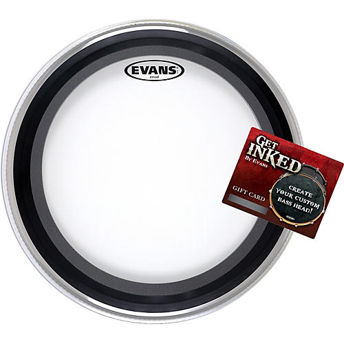evans emad bass drumhead pack 22 with inked by evans gift card guitar center. Black Bedroom Furniture Sets. Home Design Ideas