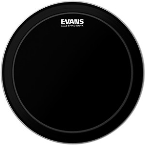 Evans EMAD Onyx Bass Batter Drumhead by Evans