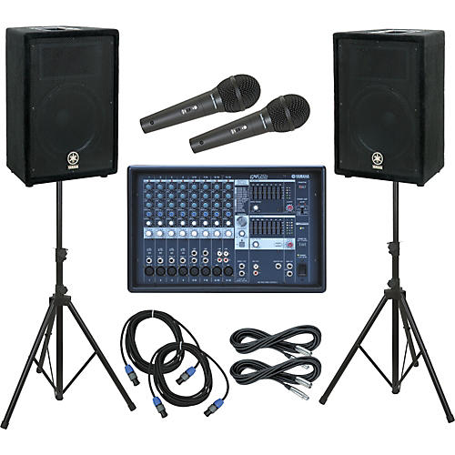 Yamaha EMX212S Mixer / A12 Speaker PA Package-thumbnail