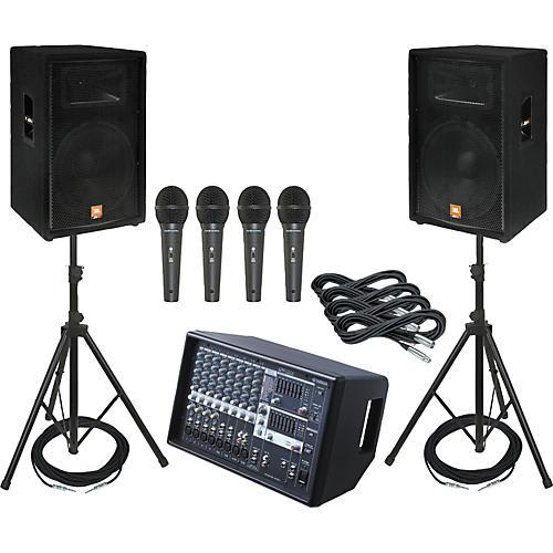 Yamaha EMX512SC / JBL JRX115 PA Package with AKG D8000 Mics-thumbnail