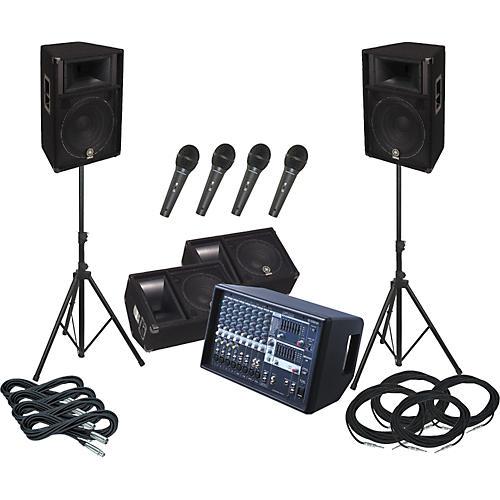 Yamaha EMX512SC / S115V PA Package with Monitors-thumbnail