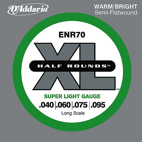 D'Addario ENR70 Half Rounds Bass Strings Super Lt Long Scale