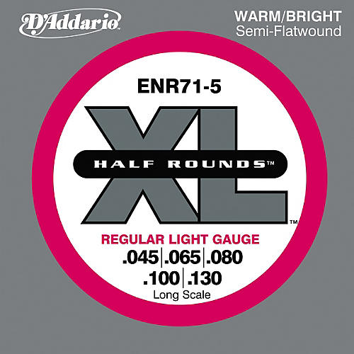 D'Addario ENR71-5 Half Rounds Light 5-String Bass Strings