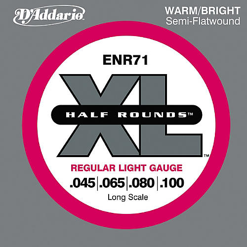 D'Addario ENR71 Half Rounds Light Bass Strings-thumbnail