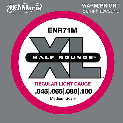 D'Addario ENR71M Half Rounds Light Bass Strings-thumbnail