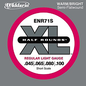 Click here to buy Daddario ENR71S Half Rounds Light Bass Strings by D