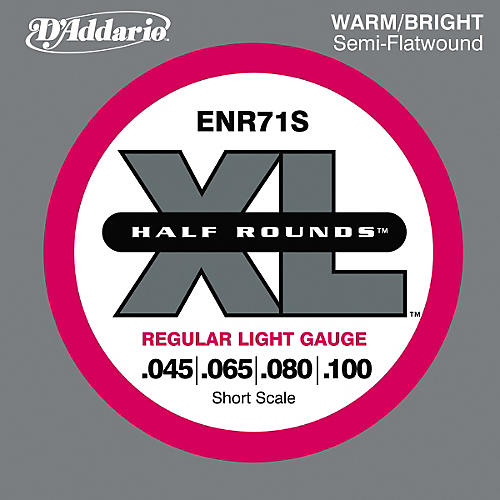 D'Addario ENR71S Half Rounds Light Bass Strings