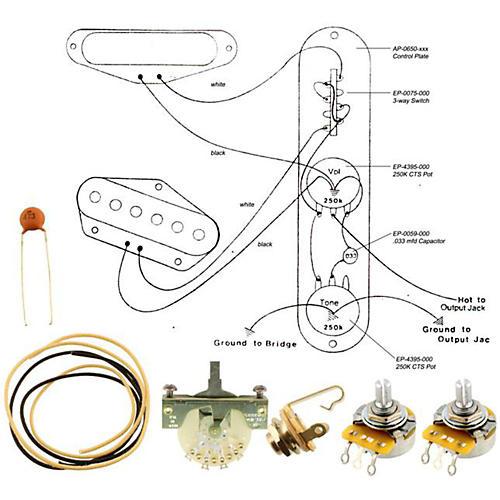 Allparts EP-4130-000 Wiring Kit for Telecaster-thumbnail