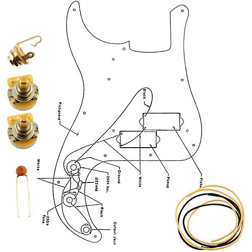 Allparts EP-4139-000 Wiring Kit for Precision Bass-thumbnail