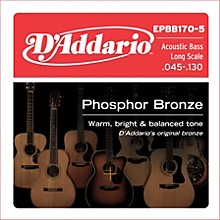 D'Addario EPBB170-5 Phosphor Bronze, Long-Scale, 5-String Acoustic Bass Guitar Strings