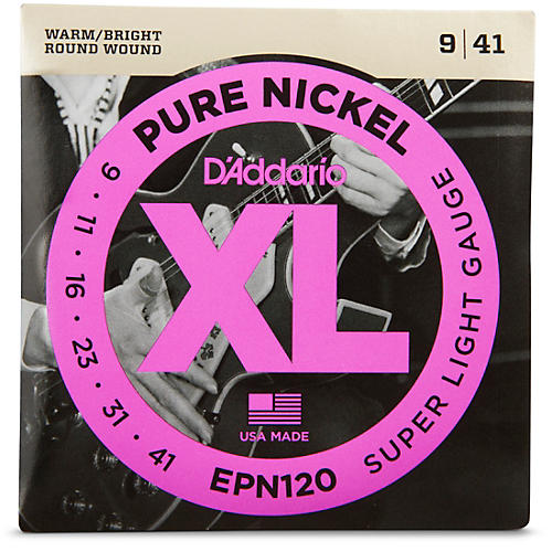 D'Addario EPN120 Pure Nickel Super Light Electric Guitar Strings-thumbnail