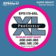 D'Addario EPS170-6SL Pro Steels Regular Light Super Long Scale 6-String Bass Strings