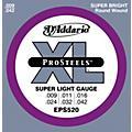 D'Addario EPS520 ProSteels Super Light Electric Guitar Strings  Thumbnail