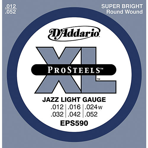 D'Addario EPS590 ProSteels Light Jazz Electric Guitar Strings-thumbnail