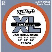 D'Addario EPS600 ProSteels Jazz Medium Electric Guitar Strings