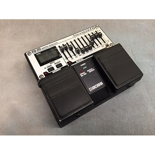 Boss EQ-20 Black And Silver Pedal Black and Silver
