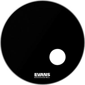 Evans EQ3 Black Resonant Bass Drumhead by Evans