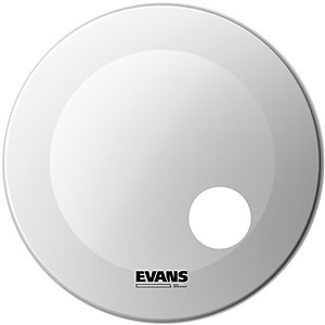 Evans EQ3 Coated White Resonant Bass Drumhead by Evans
