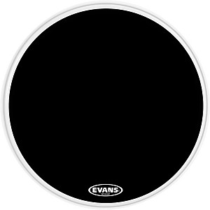 Evans EQ3 Resonant Black Tom Drumhead for Floor Tom Conversion by Evans