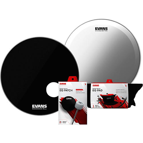 Evans EQ3 System Pack 22 inch Bass Drum Head Set-thumbnail