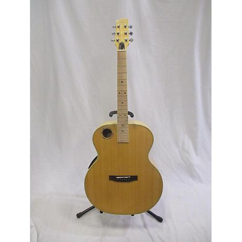 used boulder creek erj7n acoustic guitar natural guitar center. Black Bedroom Furniture Sets. Home Design Ideas