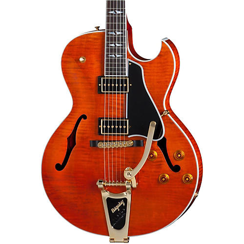 Gibson ES-195  Rockabilly Figured Electric Guitar Transparent Amber