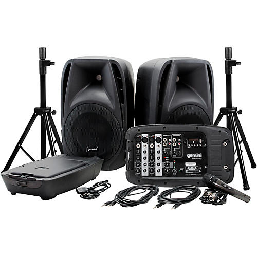 gemini es 210mxblu st portable pa system guitar center. Black Bedroom Furniture Sets. Home Design Ideas