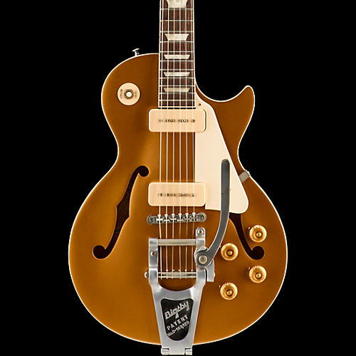 Gibson ES-Les Paul P-90 with Bigsby VOS Semi-Hollow Electric Guitar Gold Top