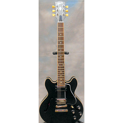 Gibson ES339 Satin Black Hollow Body Electric Guitar Satin Black-thumbnail