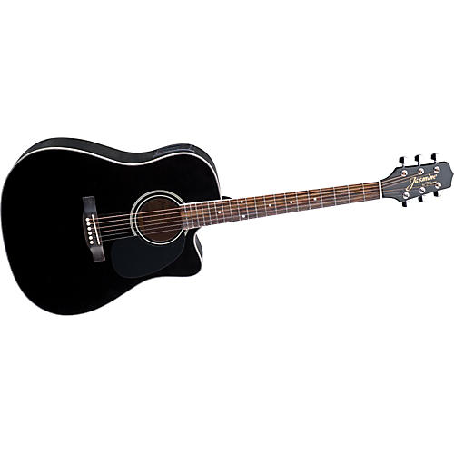 Jasmine ES341C Cutaway Dreadnought Acoustic-Electric Guitar-thumbnail