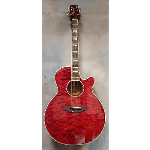 Jasmine ES450C Acoustic Electric Guitar Transparent Red