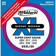 D'Addario ESXL120 Nickel Double Ball End Super Light Electric Guitar Strings