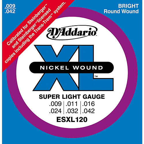D'Addario ESXL120 Nickel Double Ball End Super Light Electric Guitar Strings-thumbnail