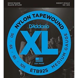 Daddario ETB92 Black Nylon Tapewound Short Scale Bass Strings
