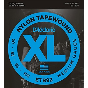 Daddario ETB92 Nylon Tapewound Medium Gauge Bass Strings by D'Addario