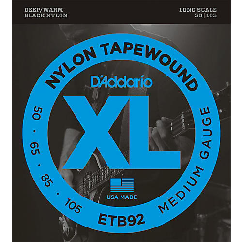 D'Addario ETB92 Nylon Tapewound Medium Gauge Bass Strings-thumbnail