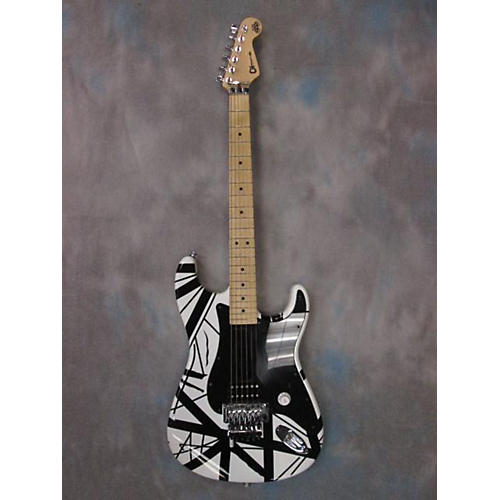 Charvel EVH ART SERIES BLACK AND WHITE STRIPE Solid Body Electric Guitar