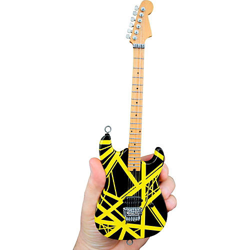 Unique Engineering EVH Bumblebee (Black and Yellow) Miniature Replica Guitar - Van Halen Approved-thumbnail