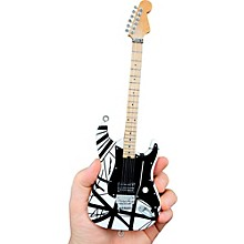 "Unique Engineering EVH Original ""Franky"" (Black and White) Miniature Replica Guitar - Van Halen Approved"