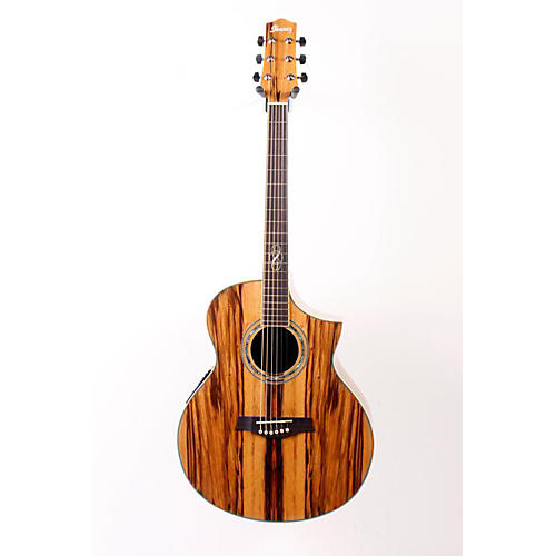 Ibanez EW20ZWE EXOTIC WOOD SERIES Zebrawood Acoustic-Electric Guitar Natural 888365064970