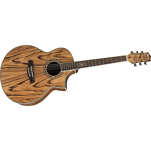 Ibanez EW20ZWE EXOTIC WOOD SERIES Zebrawood Acoustic-Electric Guitar Natural