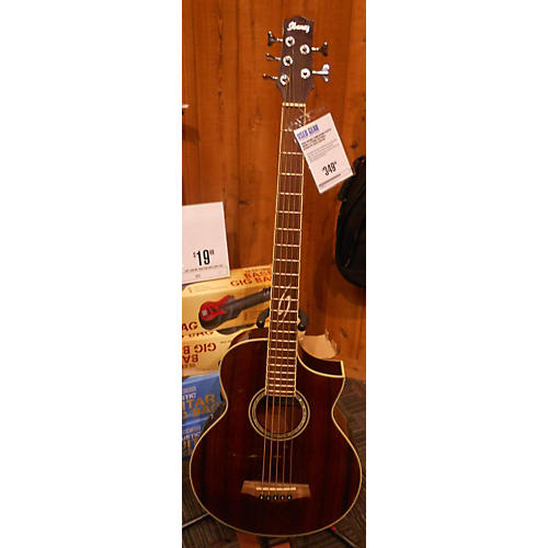 Ibanez EWB205WN Exotic Wood 5 String Acoustic Bass Guitar