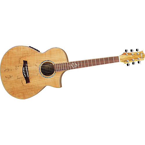 Ibanez EWC30SM Exotic Wood Spalted Maple Compact Acoustic-Electric Guitar-thumbnail