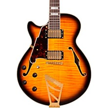 D'Angelico EX-SS Left-Handed Semi-Hollowbody Electric Guitar Level 1 Vintage Sunburst