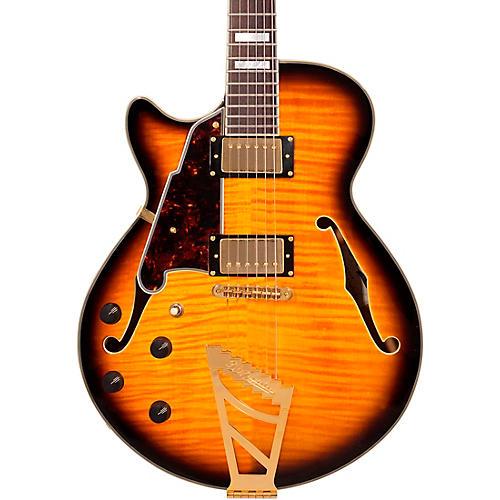 D'Angelico EX-SS Left-Handed Semi-Hollowbody Electric Guitar Vintage Sunburst-thumbnail