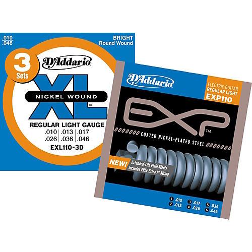 D'Addario EXL110-3D Light Electric Strings & Free EXP110 Light Electric Strings-thumbnail