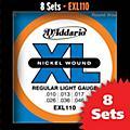 D'Addario EXL110 Light Nickel Electric Guitar Strings - 8-Pack-thumbnail
