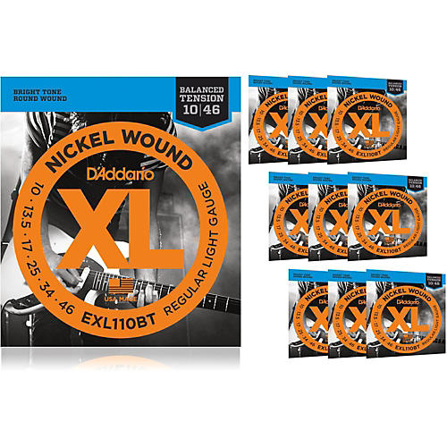 D'Addario EXL110BT Balanced Tension Lite Electric Guitar Strings 10 Pack
